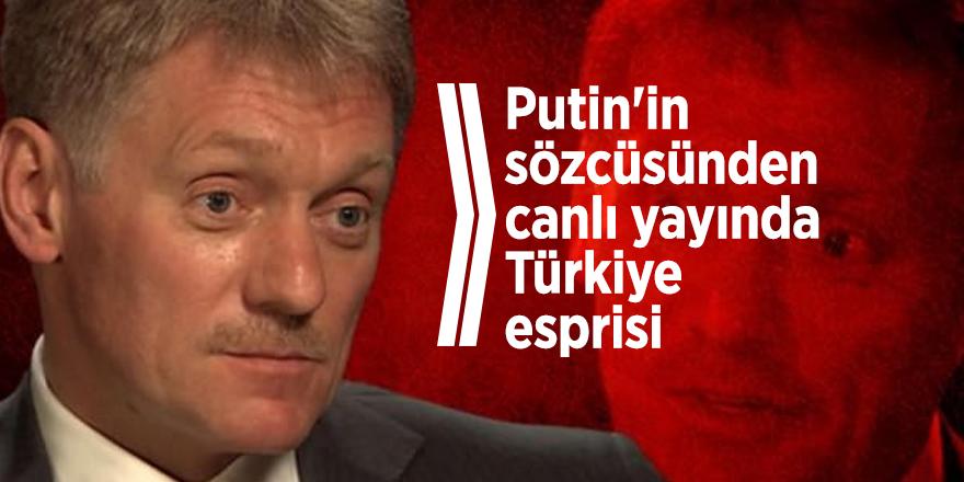 Putin'in sözcüsünden canlı yayında Türkiye esprisi