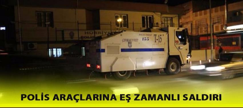 Van'da zırhlı polis araçlarına eş zamanlı saldırı