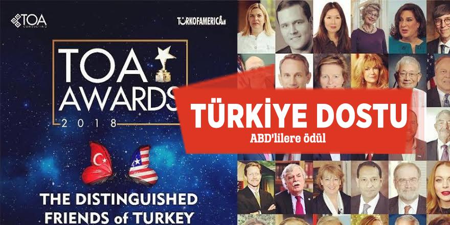 Türkiye dostu ABD'lilere ödül