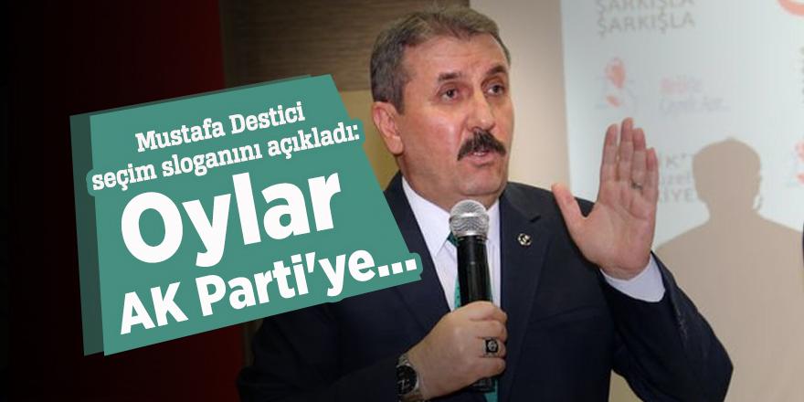 Mustafa Destici seçim sloganını açıkladı: Oylar AK Parti'ye...
