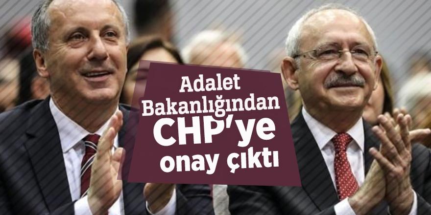 Adalet Bakanlığından CHP'ye onay çıktı