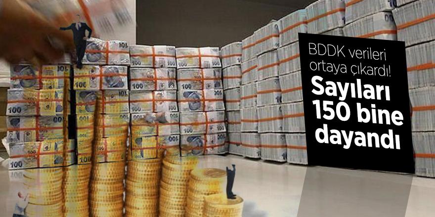 BDDK verileri ortaya çıkardı! Sayıları 150 bine dayandı