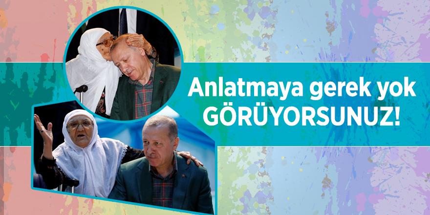Diyarbakırlı yaşlı kadının Erdoğan sevgisi