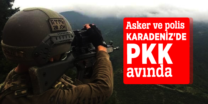 Asker ve polis Karadeniz'de PKK avında