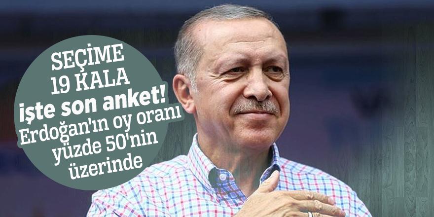 Seçime 19 kala işte son anket! Erdoğan'ın oy oranı yüzde 50'nin üzerinde