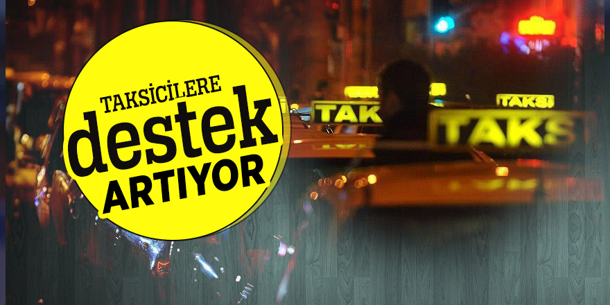 Taksicilere destek artıyor