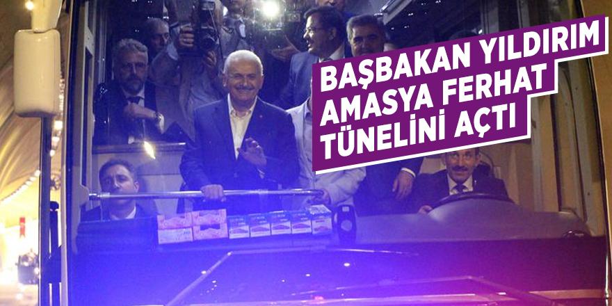 Başbakan Yıldırım, Amasya Ferhat Tünelini açtı