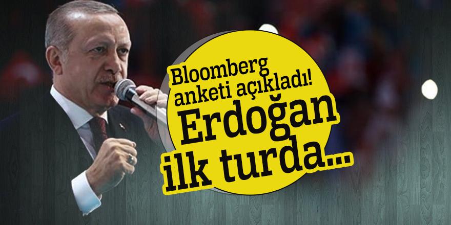 Bloomberg anketi açıkladı! Erdoğan ilk turda...