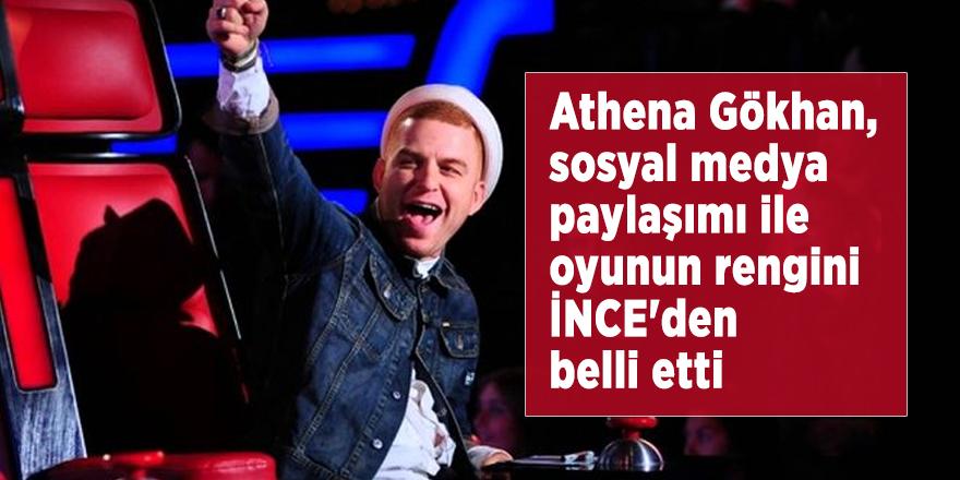 Athena Gökhan, sosyal medya paylaşımı ile oyunun rengini İNCE'den belli etti