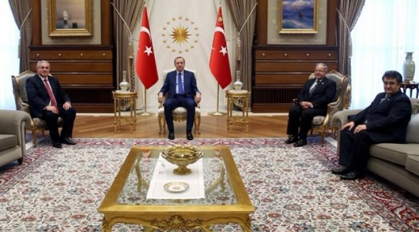 Erdoğan, Külliye'de Yargıtay heyetini kabul etti
