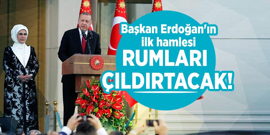 Başkan Erdoğan'ın ilk hamlesi Rumları çıldırtacak!