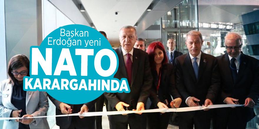 Başkan Erdoğan yeni NATO karargahında!