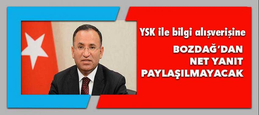Bozdağ: YSK'nın verileri paylaşmasına sınır!