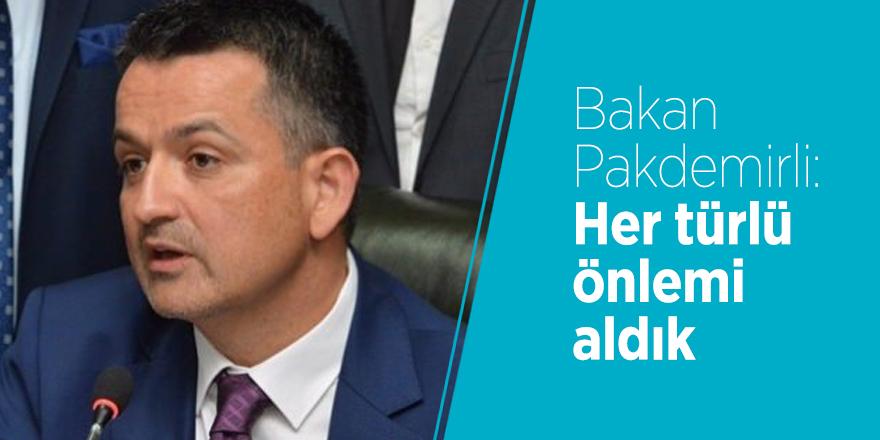 Bakan Pakdemirli: Her türlü önlemi aldık