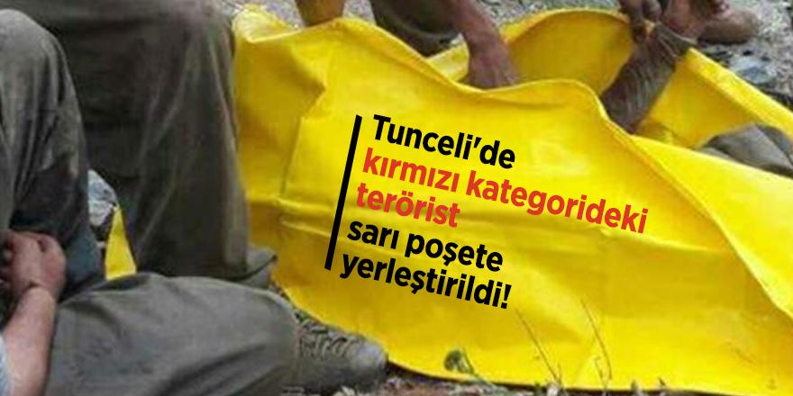 Tunceli'de kırmızı kategorideki terörist sarı poşete yerleştirildi!
