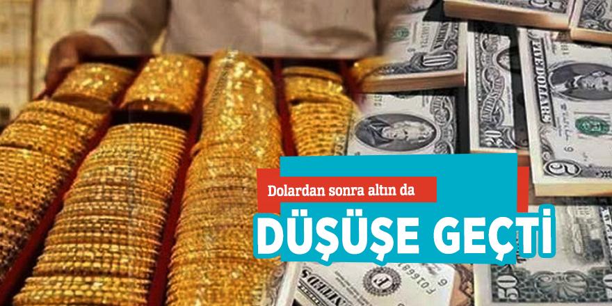 Dolardan sonra altın da düşüşe geçti