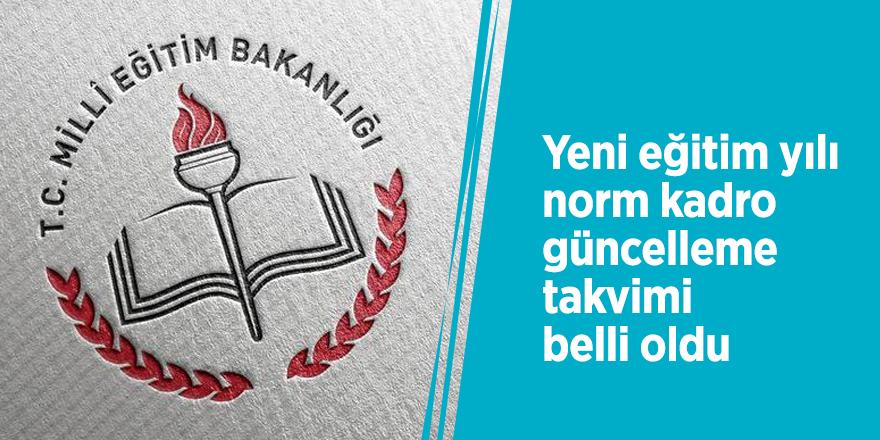 Yeni eğitim yılı norm kadro güncelleme takvimi belli oldu