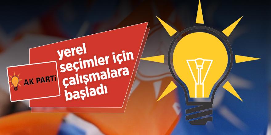 AK Parti'den yerel seçim anketi