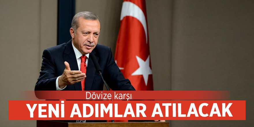 Cumhurbaşkanı Erdoğan: Dövize karşı yeni adımlar atılacak