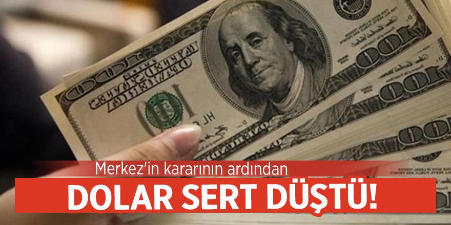 Merkez'in kararının ardından dolar sert düştü!