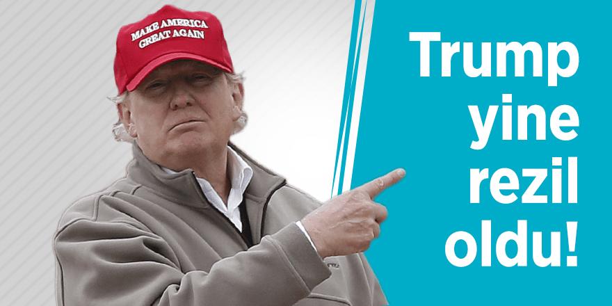Trump yine rezil oldu!