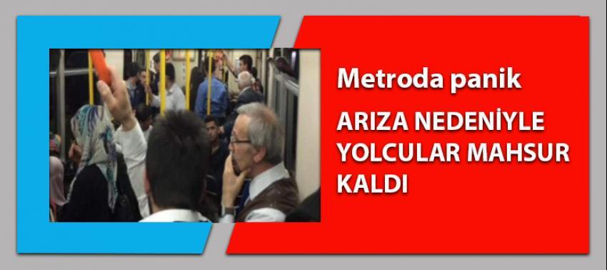 Metro arızalandı! Yolcular içerde mahsur kaldı