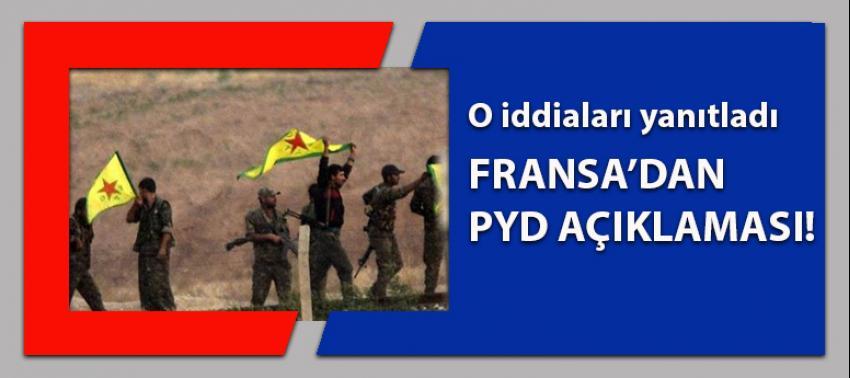 Fransa'dan PYD iddialarına açıklama!