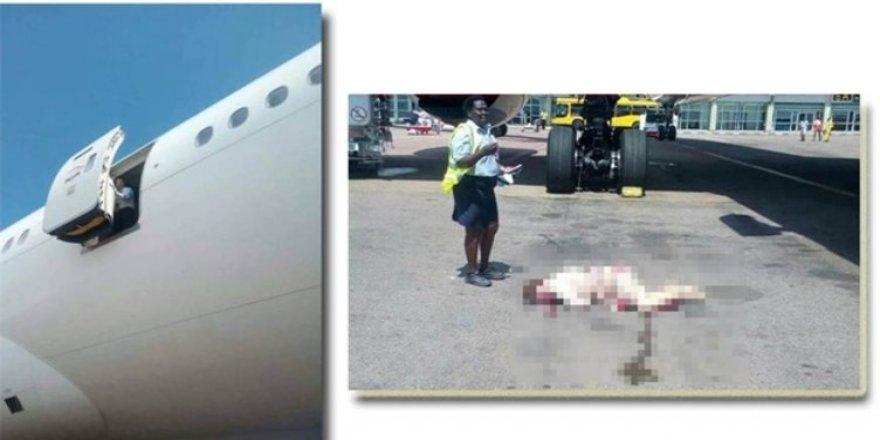 Hostes uçaktan düştü