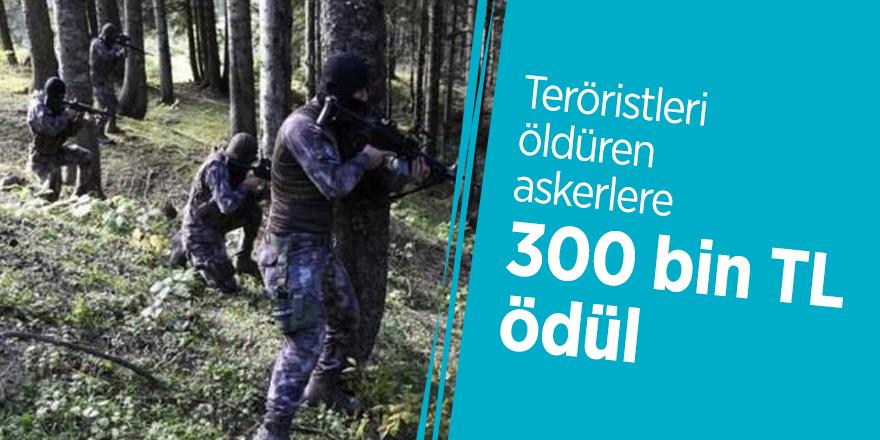 Teröristleri öldüren askerlere 300 bin TL ödül