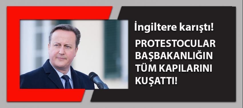 İngiltere karıştı: Protestocular Başbakanlığı kuşattı