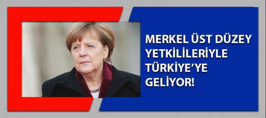 Merkel üst düzey yetkilileriyle Türkiye'ye geliyor