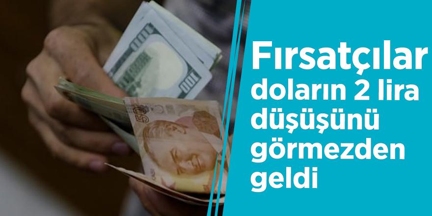 Fırsatçılar, doların 2 lira düşüşünü görmezden geldi