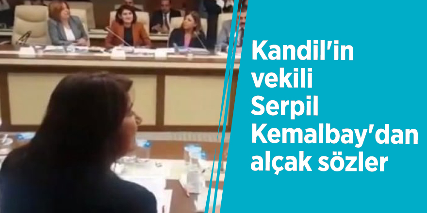 Kandil'in vekili Serpil Kemalbay'dan alçak sözler