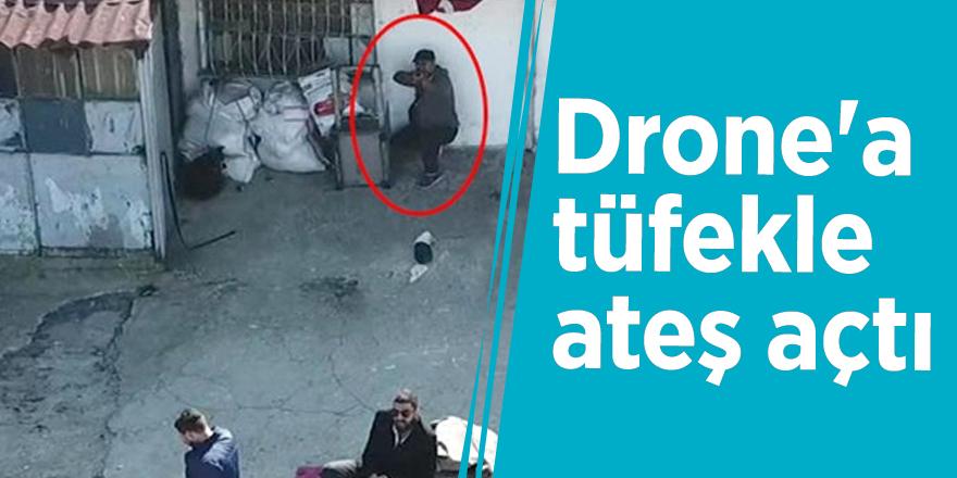İstanbul'da şoke eden olay! Drone'a tüfekle ateş açtı