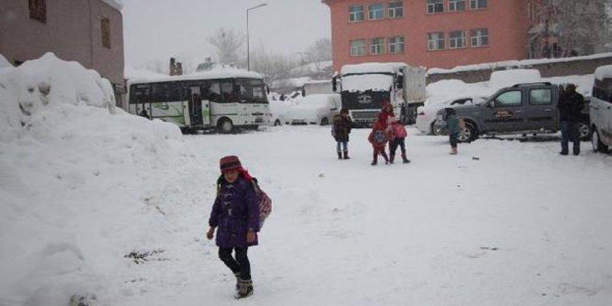 Kar etkisini arttırdı! Okullar 2 gün tatil edildi