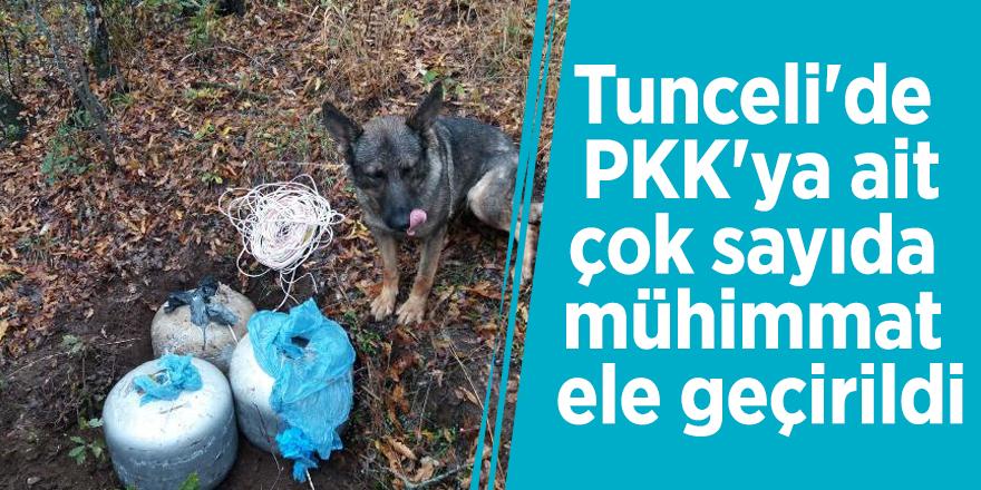 Tunceli'de PKK'ya ait çok sayıda mühimmat ele geçirildi