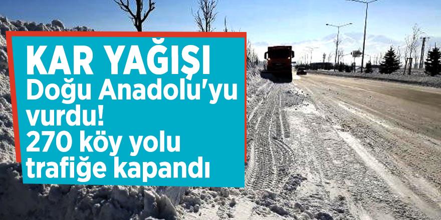 Kar yağışı, Doğu Anadolu'yu vurdu! 270 köy yolu trafiğe kapandı