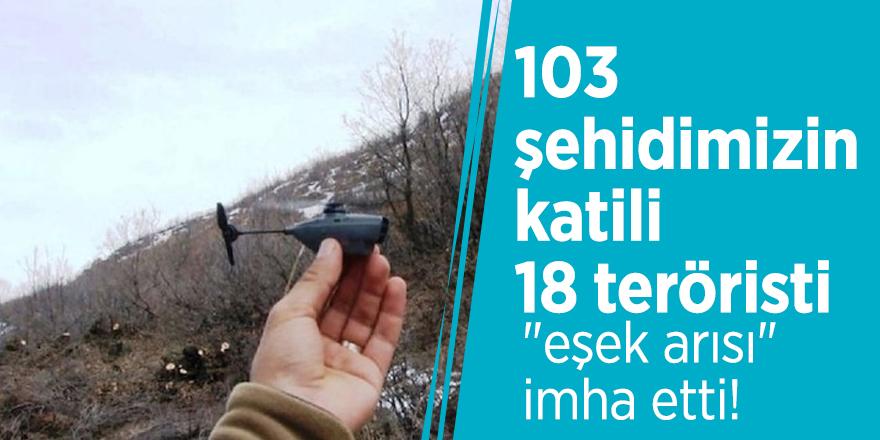 """103 şehidimizin katili 18 teröristi """"eşek arısı"""" imha etti!"""