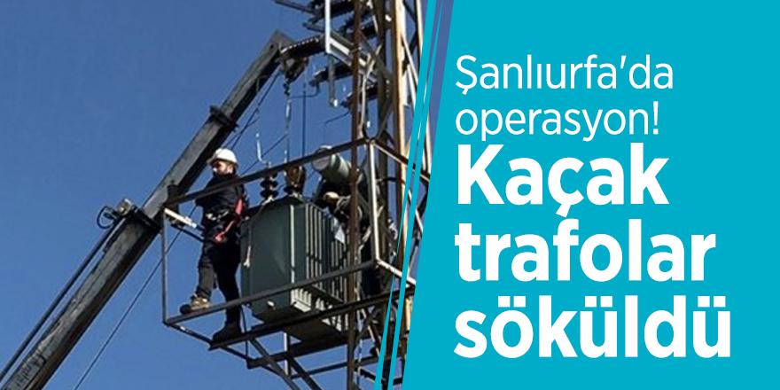 Şanlıurfa'da operasyon! Kaçak trafolar söküldü