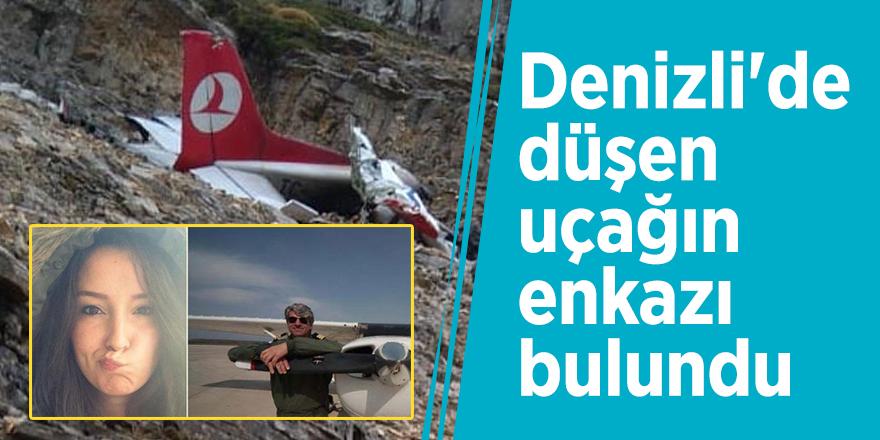 Denizli'de düşen uçağın enkazı bulundu