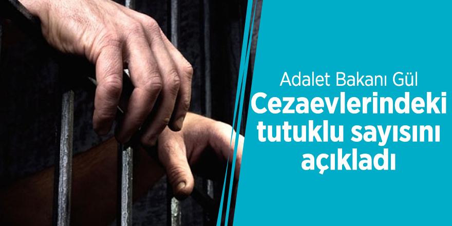 Adalet Bakanı, cezaevlerindeki tutuklu sayısını açıkladı