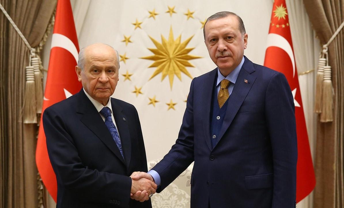 Erdoğan-Bahçeli arasındaki görüşme başladı