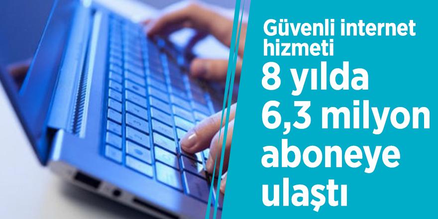 Güvenli internet hizmeti, 8 yılda 6,3 milyon aboneye ulaştı