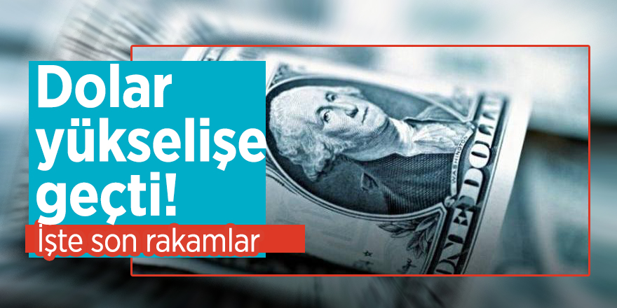 Dolar yükselişe geçti! İşte son rakamlar