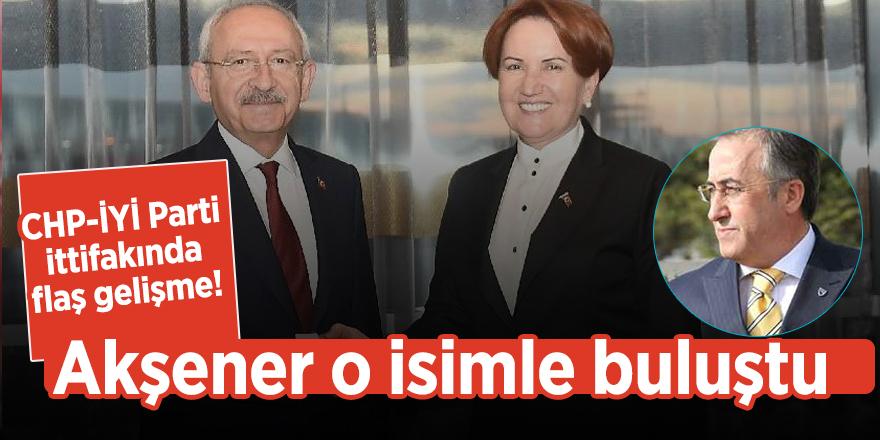 CHP-İYİ Parti ittifakında flaş gelişme! Akşener o isimle buluştu