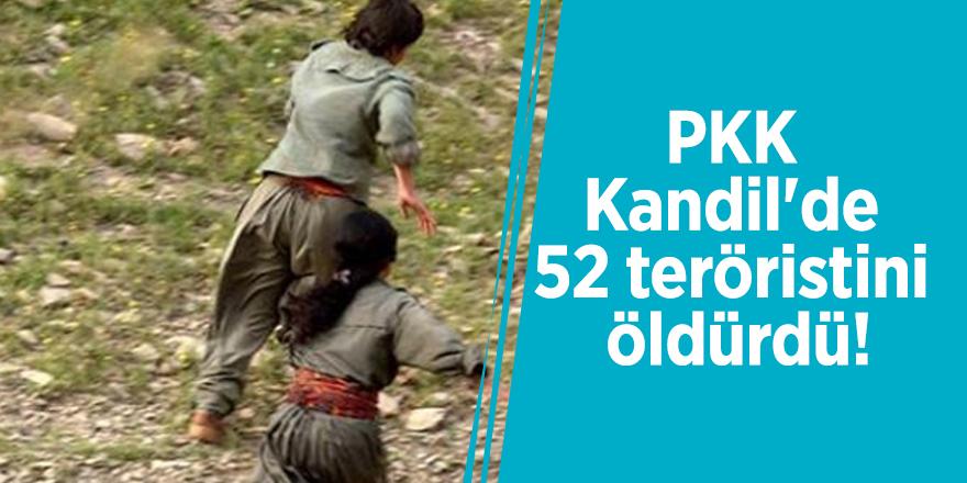 PKK Kandil'de 52 teröristini öldürdü!