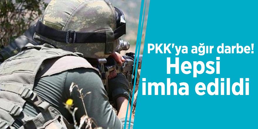 PKK'ya ağır darbe! Hepsi imha edildi