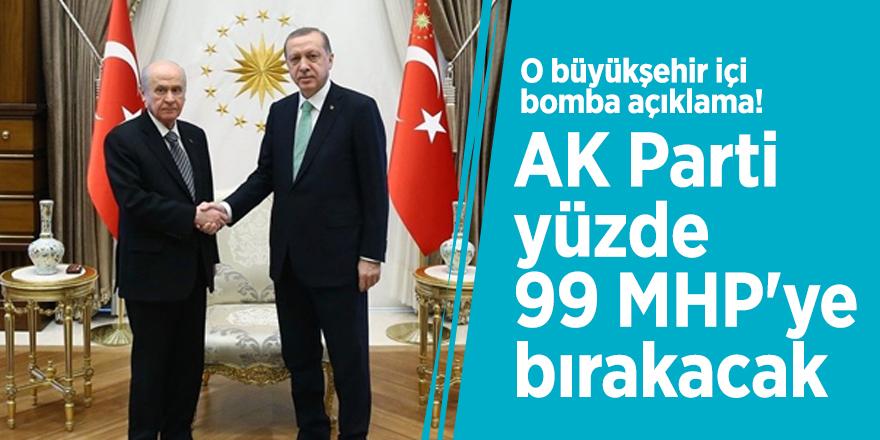 O büyükşehir için bomba açıklama! 'AK Parti yüzde 99 MHP'ye bırakacak'