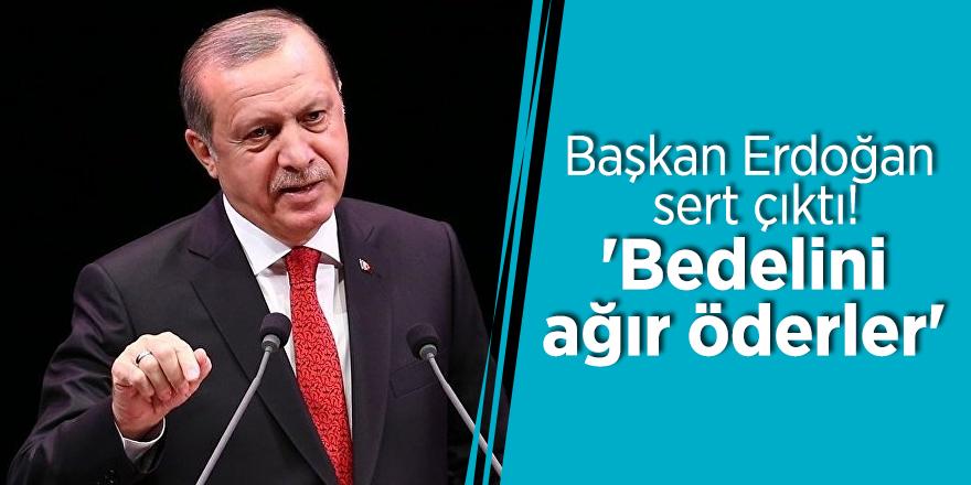 Başkan Erdoğan sert çıktı! 'Bedelini ağır öderler'