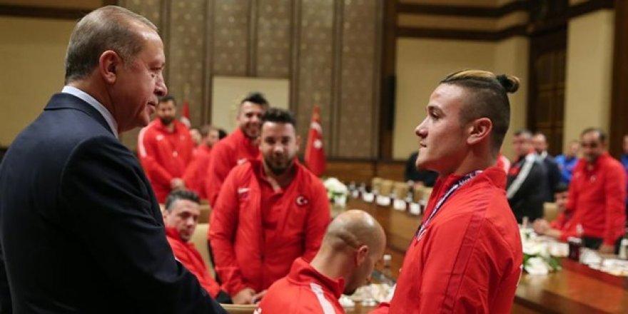 Cumhurbaşkanı Erdoğan Ampute Milli Takım'ı kabul etti